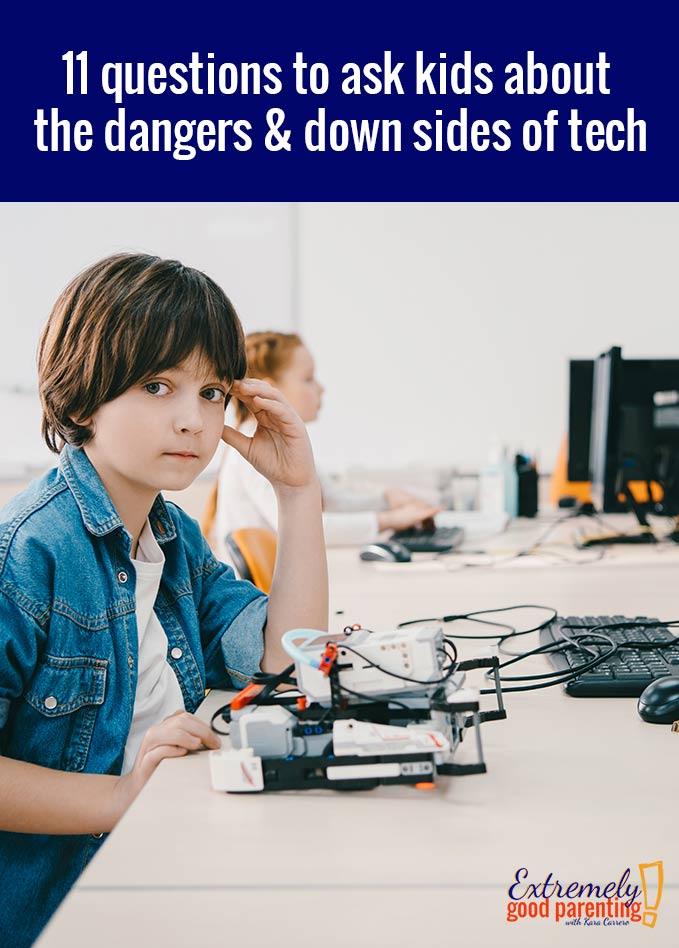 The important questions we have to ask our kids, tweens, and teens about using new technology and how they use it. We all know there are dangers but are we discussing the hidden dangers? #technology #kidsandtechnology