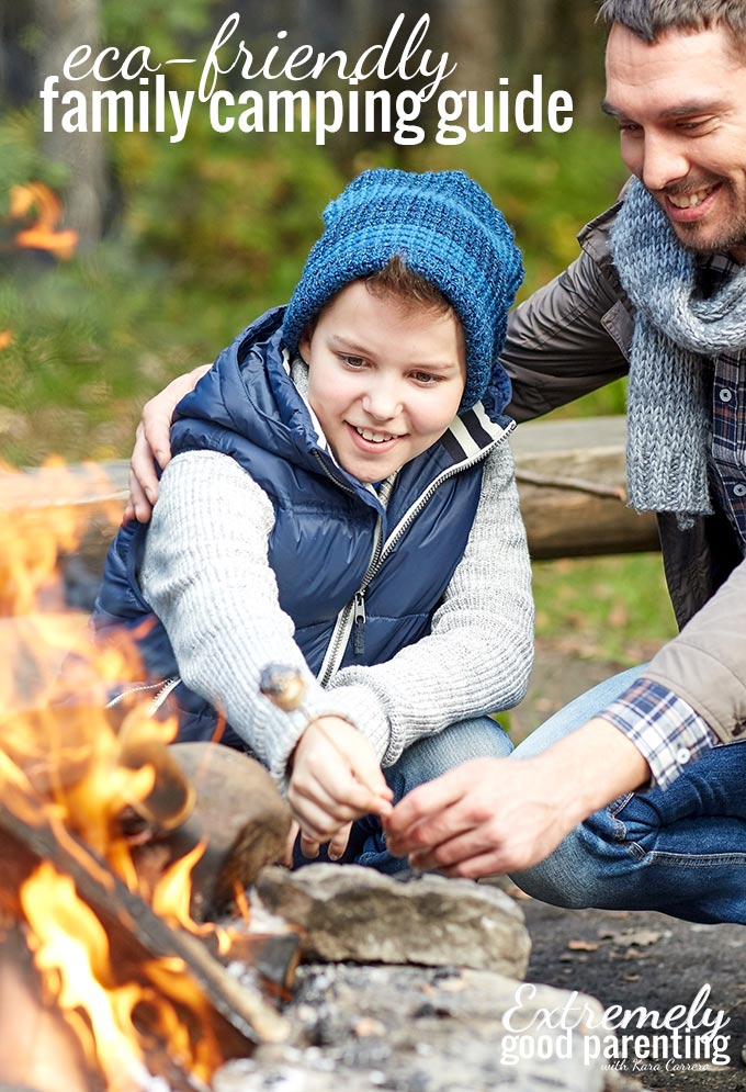 How to reduce your footprint as a family on your next camping trip with kids. #camping #ecofriendly