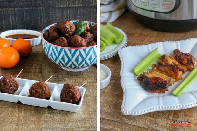 Instant Pot Chicken Wings, Meatballs