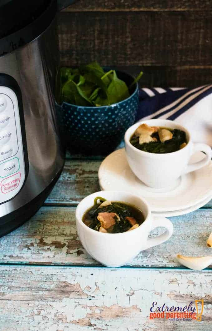 #instantpot spinach #recipe