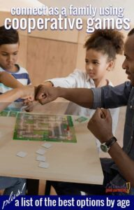 Change up your #familygamenight with this list of great cooperative board games for toddlers, kids, teens, couples, and adults. Learn to build your teamwork skills to win the game!