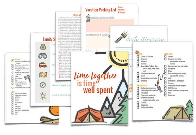 family vacation planner pack