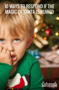 10 talking points if someone spoils the Santa surprise or ruins the magic of Christmas by telling a child that he does not exist.