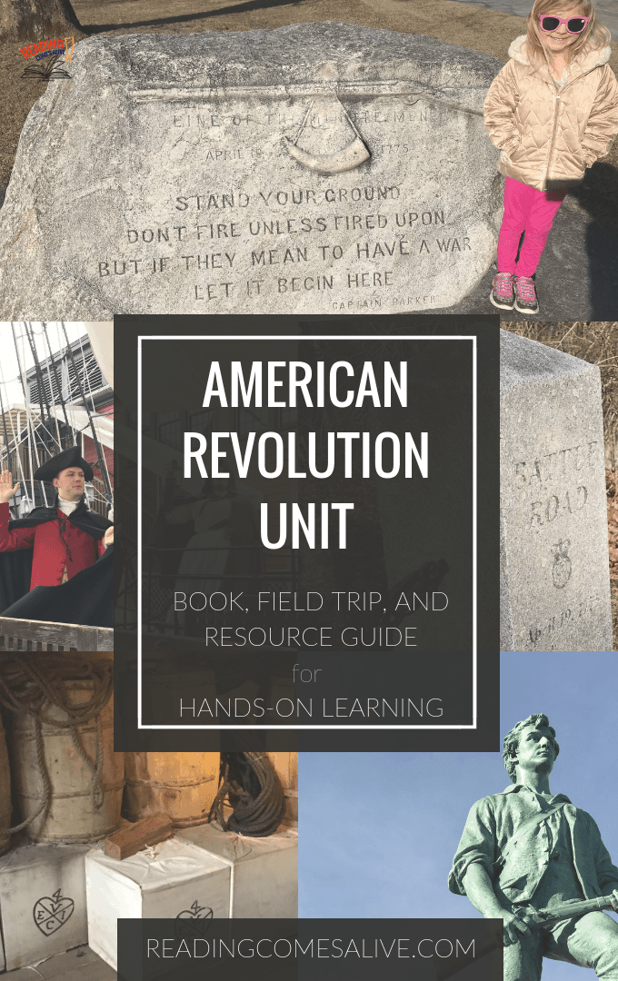 American Revolutionary War Unit Study - Books, Field Trips, games, and activity guide. #ReadingComesAlive #ExtremelyGoodParenting #KaraCarrero