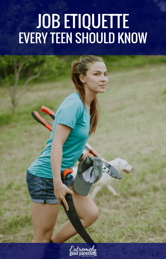 How to prepare your teen for their first job with 5 simple etiquette rules. #karacarrero #extremelygoodparenting #parentingthatempowers