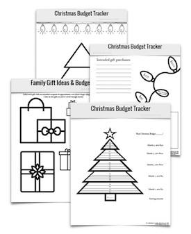 Christmas Budget Printables