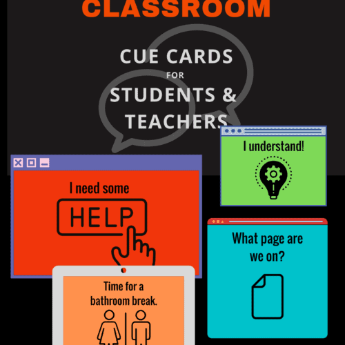 Examples of cue cards